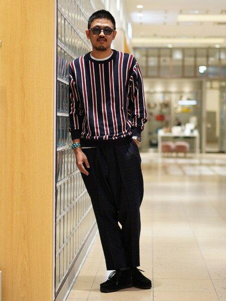 BEAMS MENさんのフルレングス「BEAMS / バギーテーパード スラックス」を使ったコーディネートを紹介します。|ファッション通販楽天ブランドアベニュー(旧スタイライフ Stylife)27896