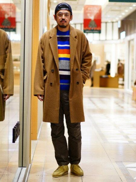 BEAMS MENさんの長袖ニット「BEAMS / マルチボーダー クルーネック」を使ったコーディネートを紹介します。|ファッション通販楽天ブランドアベニュー(旧スタイライフ Stylife)29232