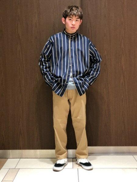 BEAMS MENさんのフルレングス「Lee × BEAMS / 別注 ワーク イージーパンツ」を使ったコーディネートを紹介します。|ファッション通販楽天ブランドアベニュー(旧スタイライフ Stylife)33412