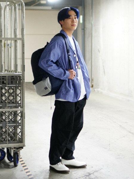 BEAMS MENさんのフルレングス「GUNG HO × BEAMS / 別注 バルーンベイカーパンツ」を使ったコーディネートを紹介します。|ファッション通販楽天ブランドアベニュー(旧スタイライフ Stylife)33413