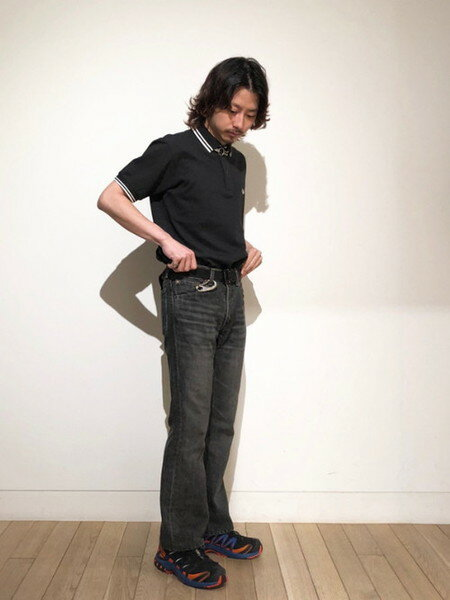 BEAMS MENさんのポロシャツ「FRED PERRY × BEAMS / 別注 白芯鹿の子 ダブルカラー ポロシャツ」を使ったコーディネートを紹介します。|ファッション通販楽天ブランドアベニュー(旧スタイライフ Stylife)36517