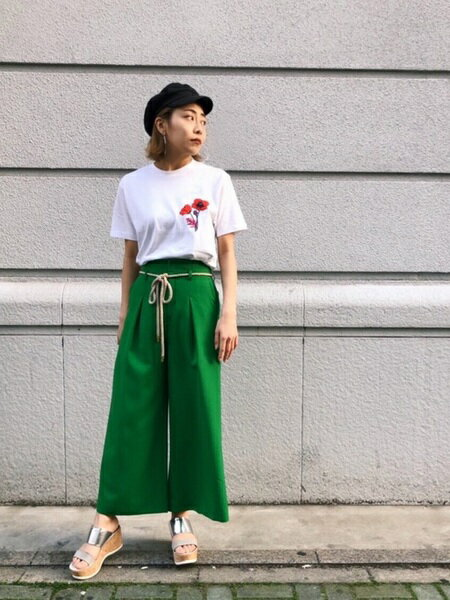 GUILD PRIMEさんのパンツその他「【LOVELESS】WOMEN リネンライクワイドパンツ」を使ったコーディネートを紹介します。|ファッション通販楽天ブランドアベニュー(旧スタイライフ Stylife)34619
