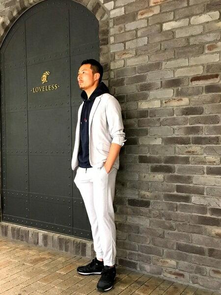GUILD PRIMEさんのパンツその他「【LOVELESS】MENパイルジョガーパンツ」を使ったコーディネートを紹介します。|ファッション通販楽天ブランドアベニュー(旧スタイライフ Stylife)34630