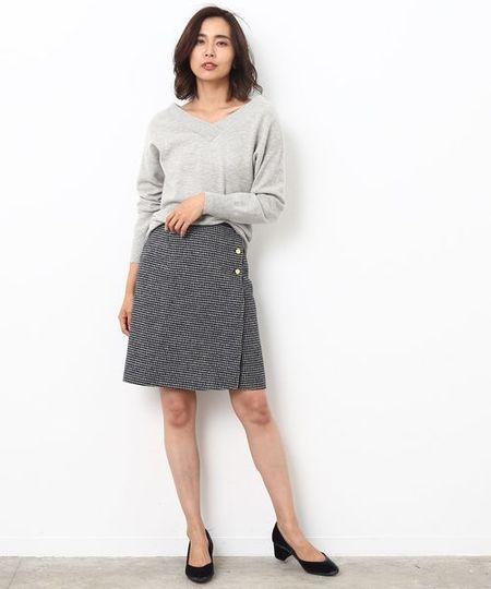 ROPE'さんのスカートその他「リバーシブルチェックスカート」を使ったコーディネートを紹介します。|ファッション通販楽天ブランドアベニュー(旧スタイライフ Stylife)12563
