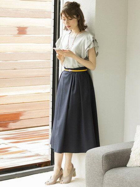 ViSさんのスカートその他「アシンメトリータックミモレ丈スカート」を使ったコーディネートを紹介します。|ファッション通販楽天ブランドアベニュー(旧スタイライフ Stylife)20257