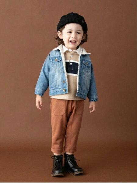 petit mainさんのキッズカットソー「ラガーシャツ」を使ったコーディネートを紹介します。|ファッション通販楽天ブランドアベニュー(旧スタイライフ Stylife)26915