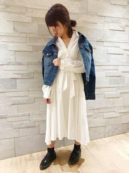 UNRELISHさんのシャツワンピース「ボリュームフレアシャツワンピ」を使ったコーディネートを紹介します。|ファッション通販楽天ブランドアベニュー(旧スタイライフ Stylife)31878