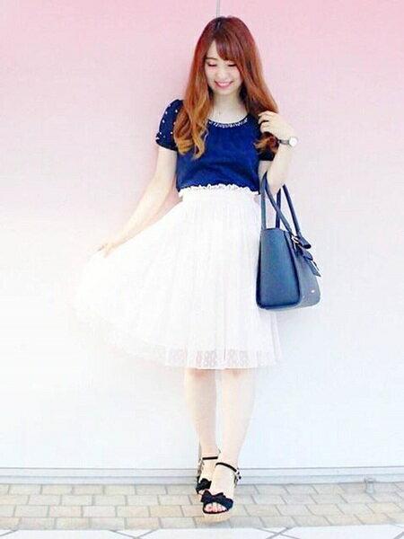 LODISPOTTOさんのフレアスカート「ふんわりドットチュールスカート」を使ったコーディネートを紹介します。|ファッション通販楽天ブランドアベニュー(旧スタイライフ Stylife)24334
