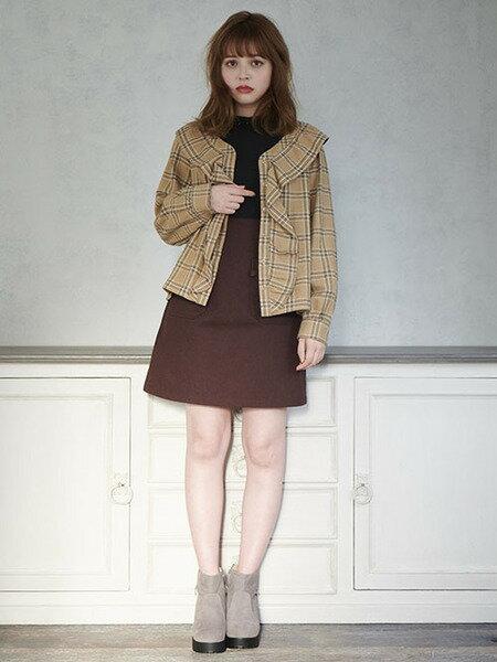 MAJESTIC LEGONさんのミニスカート「ポケットベルトスカート」を使ったコーディネートを紹介します。|ファッション通販楽天ブランドアベニュー(旧スタイライフ Stylife)27566