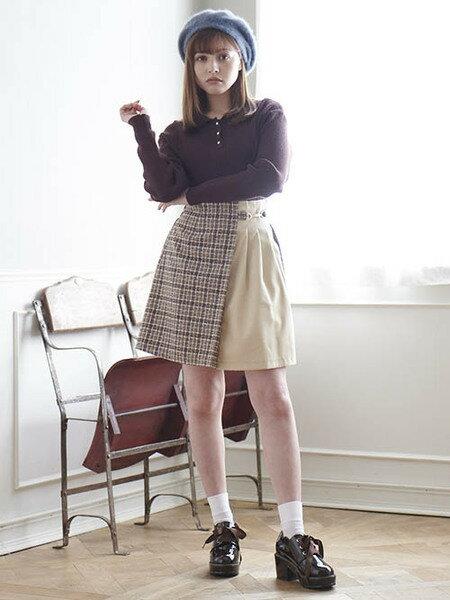MAJESTIC LEGONさんのミニスカート「ラップライクキリカエミニスカート」を使ったコーディネートを紹介します。 ファッション通販楽天ブランドアベニュー(旧スタイライフ Stylife)28821