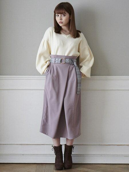 MAJESTIC LEGONさんのスカートその他「スペアベルト付Iラインスカート」を使ったコーディネートを紹介します。 ファッション通販楽天ブランドアベニュー(旧スタイライフ Stylife)29356