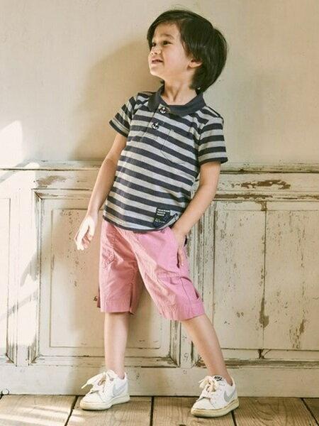 RUGGEDWORKSさんのポロシャツ「ボーダー半袖ポロシャツ/キッズ/夏」を使ったコーディネートを紹介します。|ファッション通販楽天ブランドアベニュー(旧スタイライフ Stylife)9559