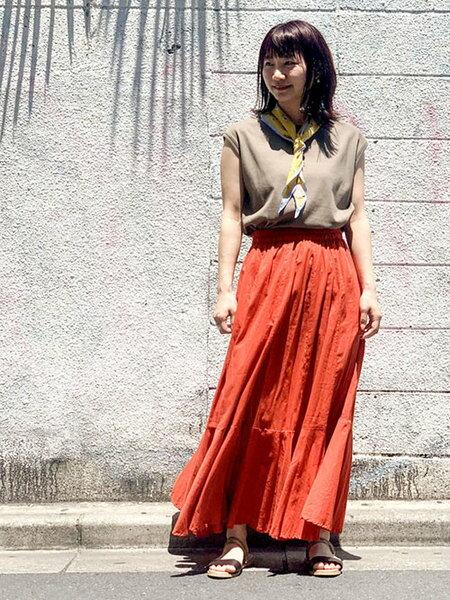 nano・universeのコットンボイル切り替えスカートを使ったコーディネートを紹介します。|Rakuten Fashion(楽天ファッション/旧楽天ブランドアベニュー)36216