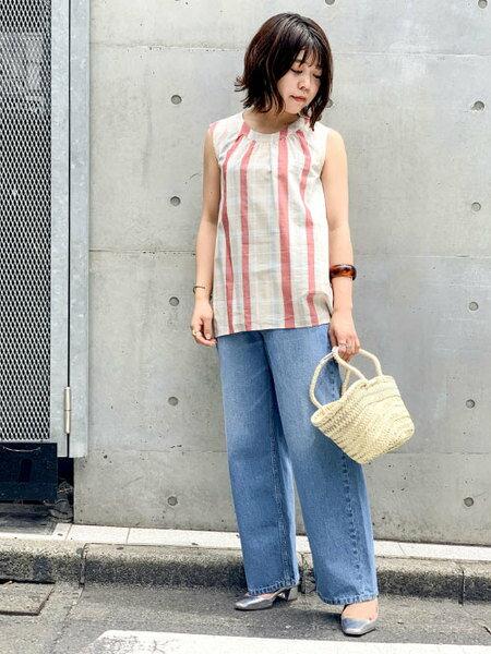 nano・universeの別注モロッカンテープバスケットMを使ったコーディネートを紹介します。 Rakuten Fashion(楽天ファッション/旧楽天ブランドアベニュー)36269