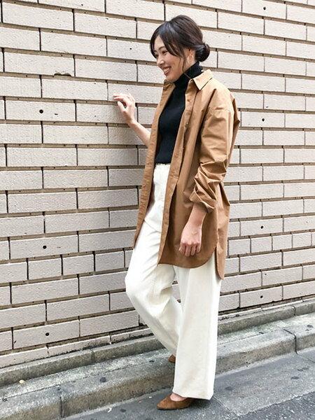 nano・universeの【WEB限定】ベルト付ロングシャツを使ったコーディネートを紹介します。|Rakuten Fashion(楽天ファッション/旧楽天ブランドアベニュー)39502