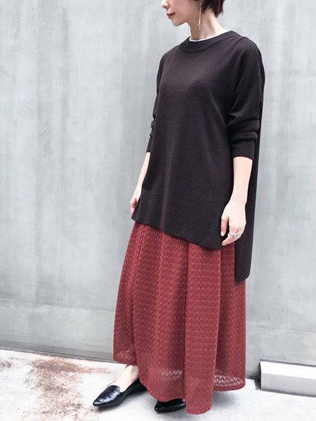 nano・universeのWEB限定/レースマキシスカートを使ったコーディネートを紹介します。|Rakuten Fashion(楽天ファッション/旧楽天ブランドアベニュー)40588