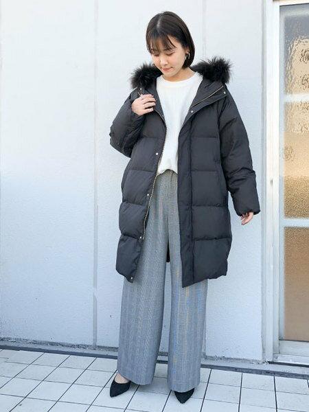 nano・universeのフロントボタンワンタックワイドパンツを使ったコーディネートを紹介します。 Rakuten Fashion(楽天ファッション/旧楽天ブランドアベニュー)42319