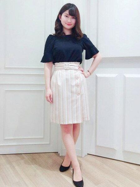 MISCH MASCHさんのタイトスカート「ストライプタイトスカート」を使ったコーディネートを紹介します。|ファッション通販楽天ブランドアベニュー(旧スタイライフ Stylife)19795