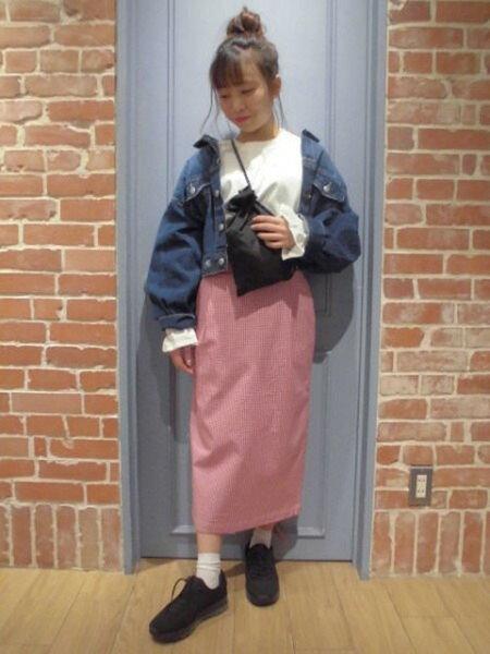 LOWRYS FARMさんのタイトスカート「C/PUCHタイトミディSK」を使ったコーディネートを紹介します。|ファッション通販楽天ブランドアベニュー(旧スタイライフ Stylife)19954