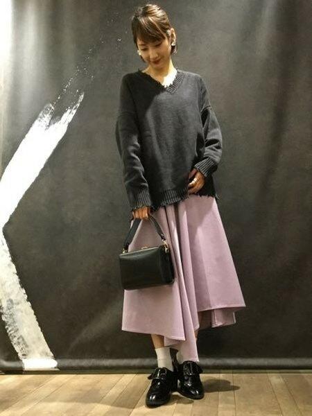 JEANASiSさんのフレアスカート「ムジハンカチーフSK2」を使ったコーディネートを紹介します。|ファッション通販楽天ブランドアベニュー(旧スタイライフ Stylife)16755