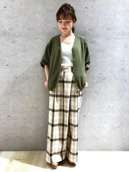 LEPSIMさんのワイド/バギーパンツ「C/LガララップワイドP」を使ったコーディネートを紹介します。|ファッション通販楽天ブランドアベニュー(旧スタイライフ Stylife)20002