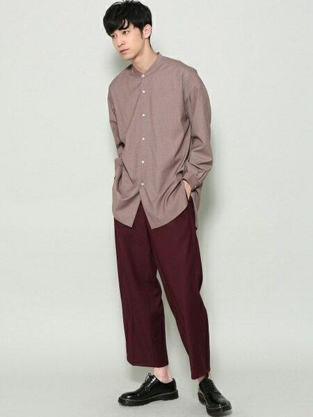JUNRedさんのシャツ/ブラウスその他「バンドカラーTRロングシャツ」を使ったコーディネートを紹介します。|ファッション通販楽天ブランドアベニュー(旧スタイライフ Stylife)20053