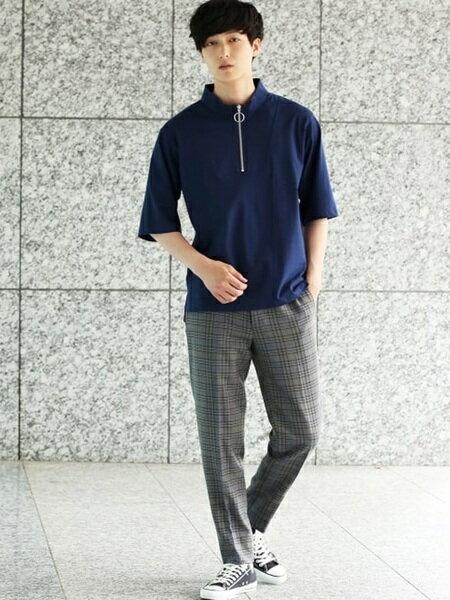 JUNRedさんのパンツその他「ブリティッシュチェックスリムパンツ」を使ったコーディネートを紹介します。|ファッション通販楽天ブランドアベニュー(旧スタイライフ Stylife)22814