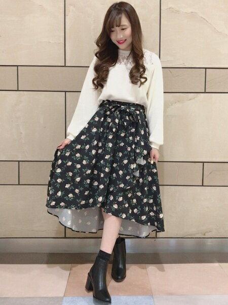 INGNIさんのスカートその他「1/12S・花柄ラップイレヘム/SK」を使ったコーディネートを紹介します。|ファッション通販楽天ブランドアベニュー(旧スタイライフ Stylife)16691