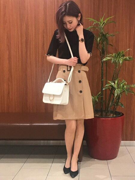 INGNIさんのショルダーバッグ「リングモチーフショルダーバッグ」を使ったコーディネートを紹介します。|ファッション通販楽天ブランドアベニュー(旧スタイライフ Stylife)20460