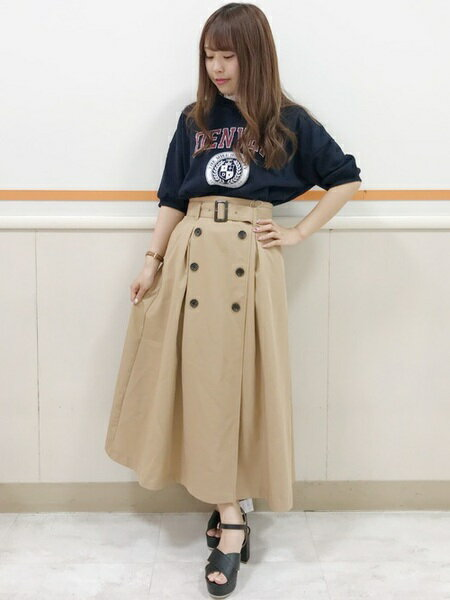 INGNIさんのロングスカート「S・TRトレンチ/SK」を使ったコーディネートを紹介します。|ファッション通販楽天ブランドアベニュー(旧スタイライフ Stylife)20494