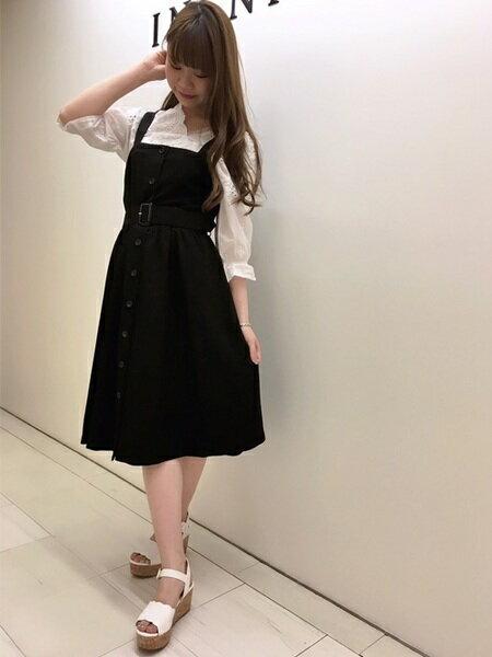 INGNIさんのジャンパースカート「S・TR前釦フレア/ジャンスカ」を使ったコーディネートを紹介します。|ファッション通販楽天ブランドアベニュー(旧スタイライフ Stylife)20757