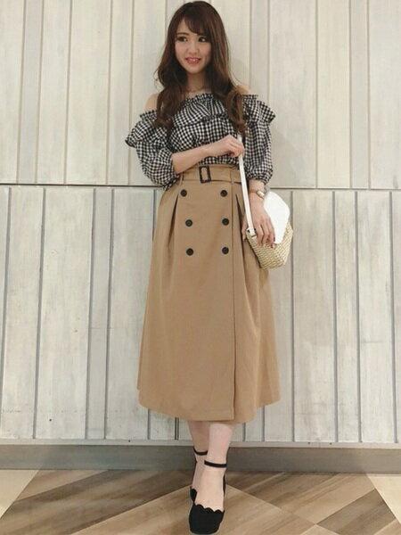 INGNIさんのロングスカート「S・TRトレンチ/SK」を使ったコーディネートを紹介します。|ファッション通販楽天ブランドアベニュー(旧スタイライフ Stylife)20782
