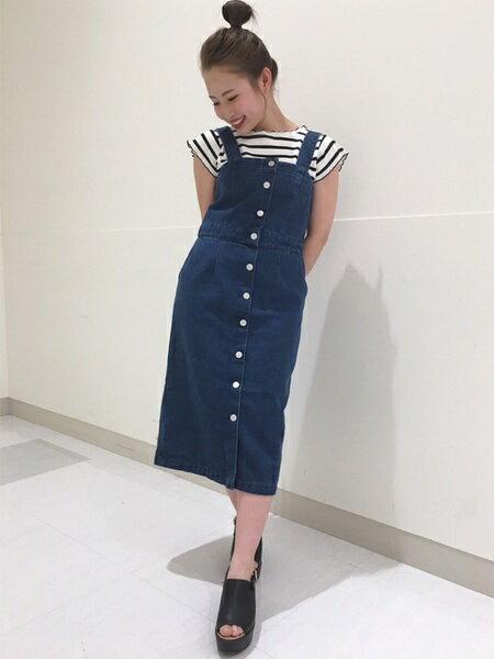 INGNIさんのジャンパースカート「C・前釦ナロージャンスカ」を使ったコーディネートを紹介します。|ファッション通販楽天ブランドアベニュー(旧スタイライフ Stylife)21044