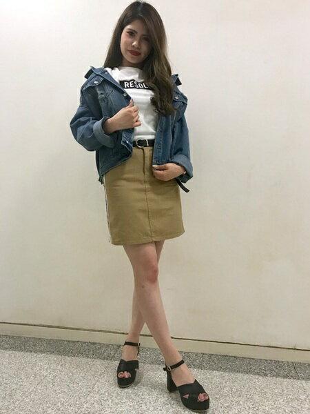 INGNIさんのデニムジャケット「C・クラッシュBIG Gジャン」を使ったコーディネートを紹介します。|ファッション通販楽天ブランドアベニュー(旧スタイライフ Stylife)21060