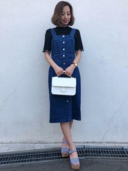INGNIさんのショルダーバッグ「リングモチーフショルダーバッグ」を使ったコーディネートを紹介します。|ファッション通販楽天ブランドアベニュー(旧スタイライフ Stylife)21094
