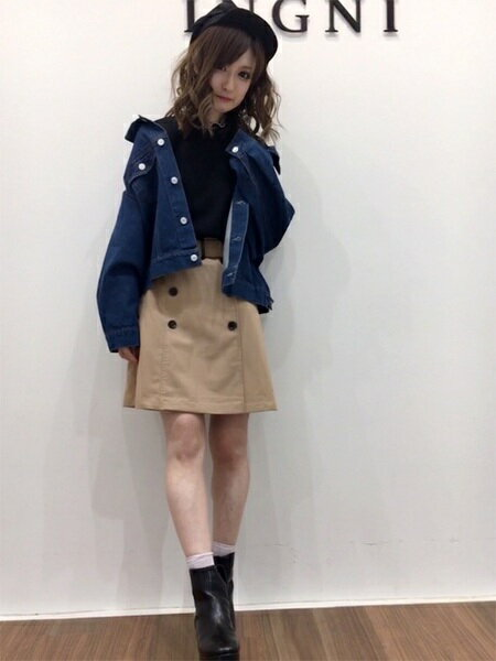 INGNIさんのミニスカート「S・トレンチミニ/SK」を使ったコーディネートを紹介します。|ファッション通販楽天ブランドアベニュー(旧スタイライフ Stylife)21372