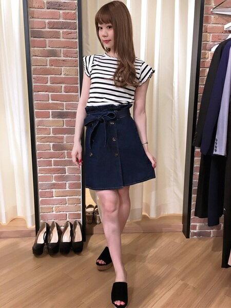 INGNIさんの台形スカート/コクーンスカート「S・L50トレンチSK」を使ったコーディネートを紹介します。|ファッション通販楽天ブランドアベニュー(旧スタイライフ Stylife)21796