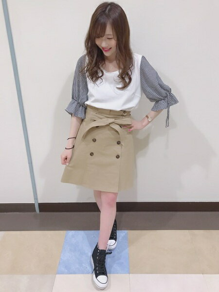 INGNIさんの台形スカート/コクーンスカート「S・L50トレンチSK」を使ったコーディネートを紹介します。 ファッション通販楽天ブランドアベニュー(旧スタイライフ Stylife)21807