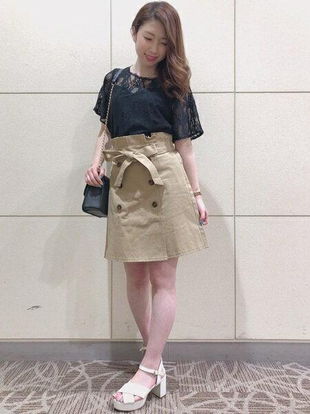 INGNIさんの台形スカート/コクーンスカート「S・L50トレンチSK」を使ったコーディネートを紹介します。|ファッション通販楽天ブランドアベニュー(旧スタイライフ Stylife)22019