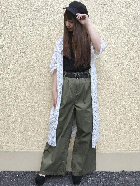 INGNIさんのワイド/バギーパンツ「C・ベルト付きデニムワイドパンツ」を使ったコーディネートを紹介します。|ファッション通販楽天ブランドアベニュー(旧スタイライフ Stylife)22718