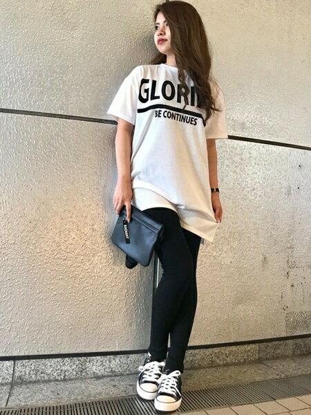 INGNIさんのTシャツ「C・BIGロゴチュニックT」を使ったコーディネートを紹介します。|ファッション通販楽天ブランドアベニュー(旧スタイライフ Stylife)24389