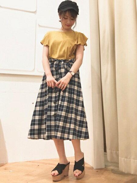 INGNIさんのTシャツ「C・TRベア袖フレアー/トップス」を使ったコーディネートを紹介します。|ファッション通販楽天ブランドアベニュー(旧スタイライフ Stylife)24393