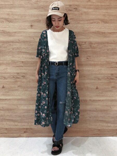 INGNIさんの半袖ワンピース「花柄ガウン/A」を使ったコーディネートを紹介します。 ファッション通販楽天ブランドアベニュー(旧スタイライフ Stylife)24621