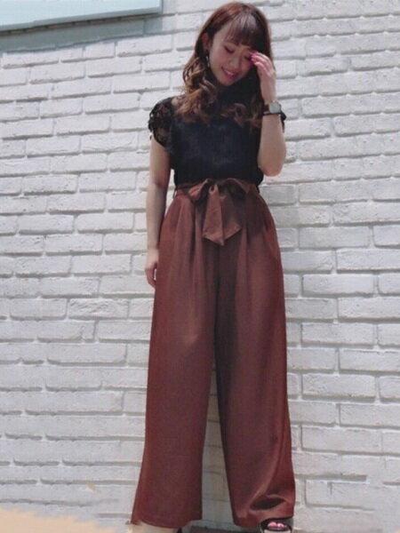 INGNIさんのTシャツ「ラッフルスリーブレーストップス」を使ったコーディネートを紹介します。|ファッション通販楽天ブランドアベニュー(旧スタイライフ Stylife)25541