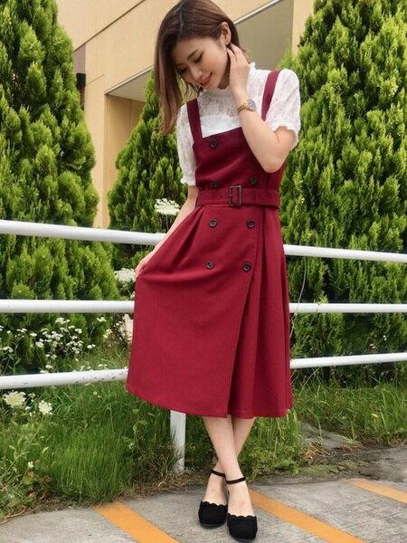 INGNIさんのジャンパースカート「トレンチ風フレア/ジャンスカ」を使ったコーディネートを紹介します。|ファッション通販楽天ブランドアベニュー(旧スタイライフ Stylife)25552