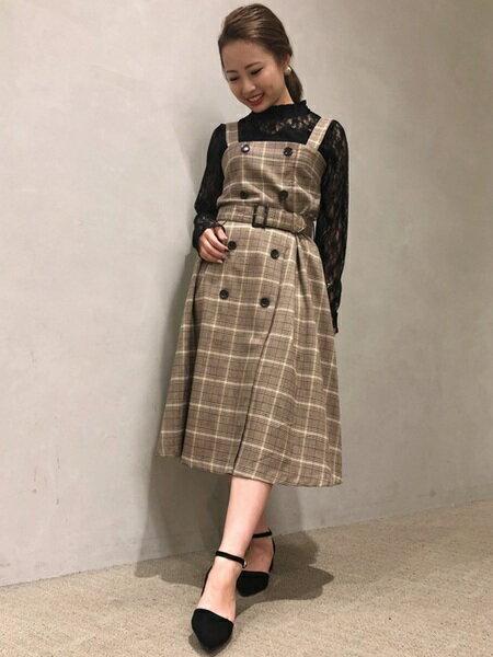 INGNIさんのカットソーその他「フラワーレース/ハイネックトップス長袖」を使ったコーディネートを紹介します。|ファッション通販楽天ブランドアベニュー(旧スタイライフ Stylife)26075