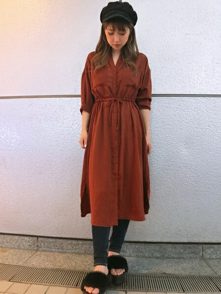 INGNIさんのシャツ/ブラウスその他「ドロストロングシャツ/ワンピース」を使ったコーディネートを紹介します。|ファッション通販楽天ブランドアベニュー(旧スタイライフ Stylife)26079