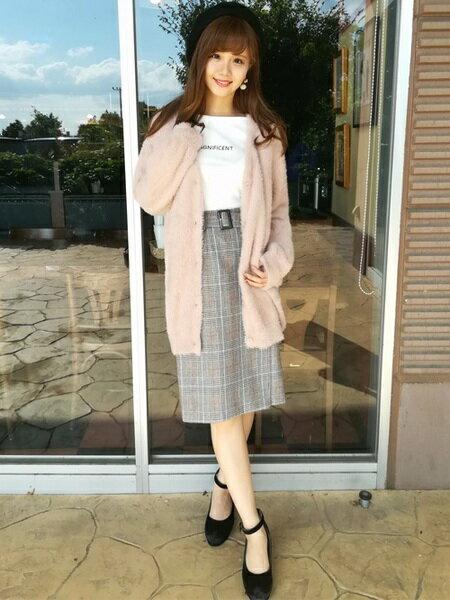 INGNIさんのスカートその他「グレンチェックサイドボタンナロー/スカート」を使ったコーディネートを紹介します。|ファッション通販楽天ブランドアベニュー(旧スタイライフ Stylife)27288