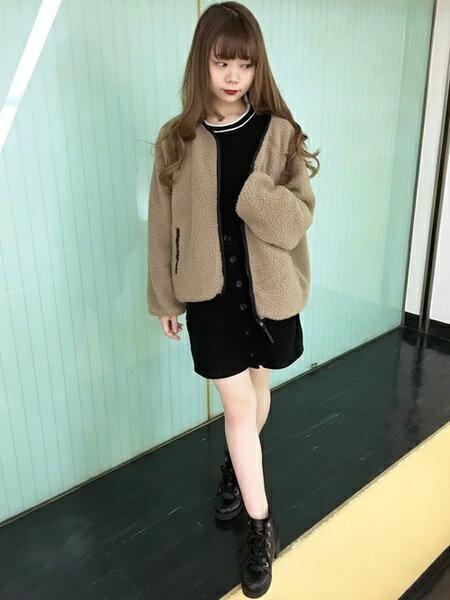 INGNIさんの台形スカート/コクーンスカート「コーデュロイ前ボタン・台形スカート」を使ったコーディネートを紹介します。|ファッション通販楽天ブランドアベニュー(旧スタイライフ Stylife)27842