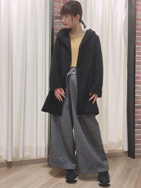 INGNIさんのロングコート「C・フェイクスライバーフードコーディガン」を使ったコーディネートを紹介します。 ファッション通販楽天ブランドアベニュー(旧スタイライフ Stylife)28332